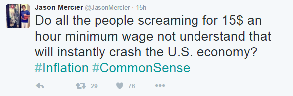 Mercier, whose average tournament buy-in is higher than what the average American has in their savings account, tweeted this to his 111k followers.